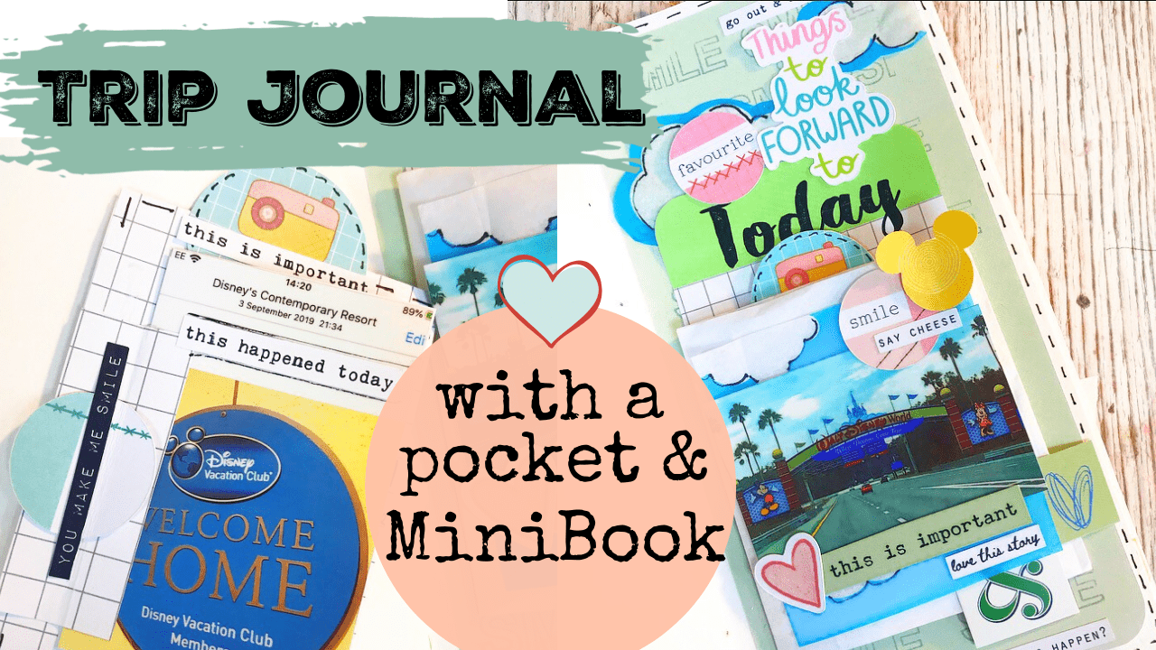 Trip Journal with Pocket & Mini Book – with video