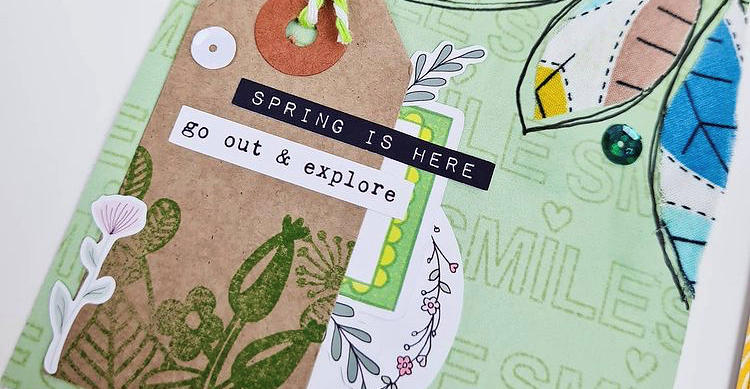 Spring Creative Journaling by Vicki with video