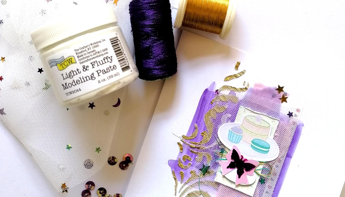 Creating Textured Cards with Philippa