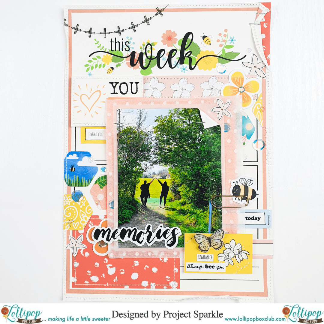 Scrap Therapy Mini Layout – by Emma, Project Sparkle