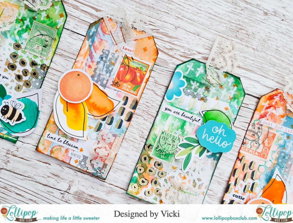 Easy Mixed Media Happy Mail Tags – with Vicki