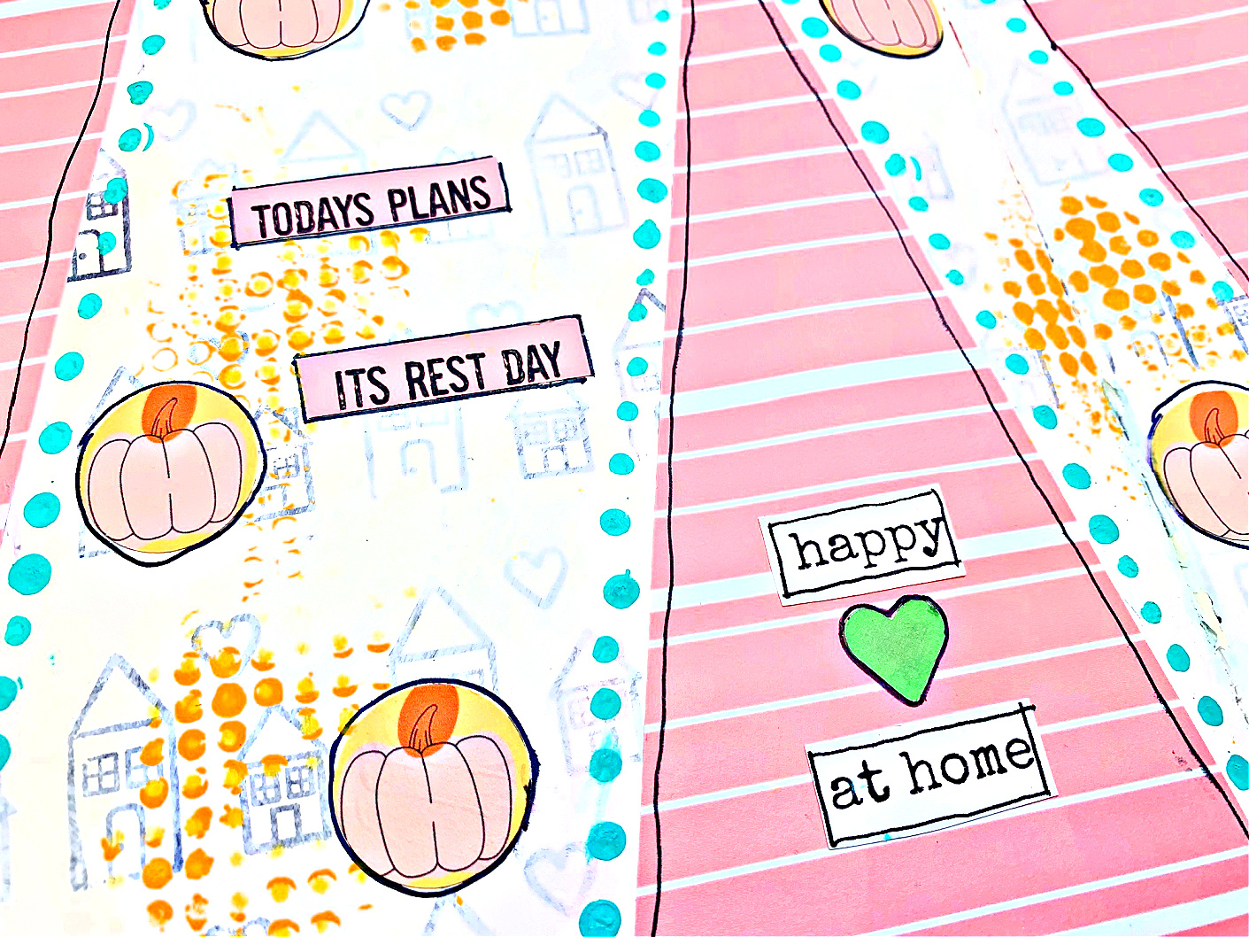 Today's Plans – It Is Rest Day! – Art Journal Page with Danielle