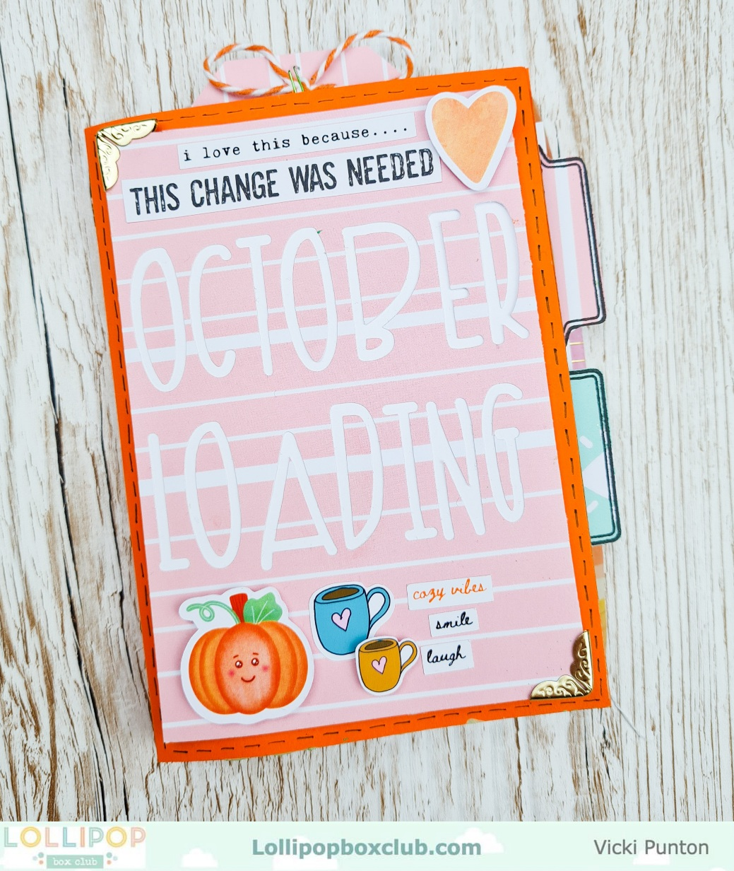 Card Blank October Mini Book with Vicki