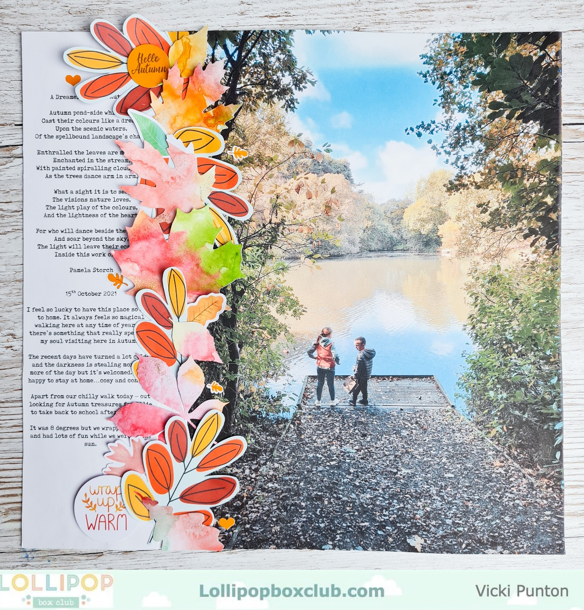 Using a Bigger Photo on a Scrapbook Layout
